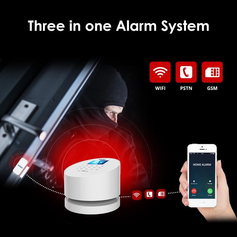 KERUI W2 Pantalla de 2,4 pulgadas WIFI GSM PSTN Sistema de alarma - Seguridad y protección - foto 2