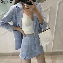 Hzirip Women 2019 Summer Office Fashion Suit Sets Short Skir
