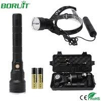 BORUiT Powerful 20W XHP50.2 LED Headlamp Flashlight USB Rechargeable Headlight Waterproof Camping Hunting Head Torch +Gift Box