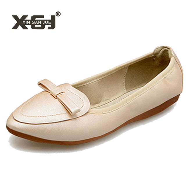 € 16.77 30% de réduction|2019 nouvelles chaussures d'automne dames chaussures plates douces semelle extérieure souple femmes ballerine chaussures
