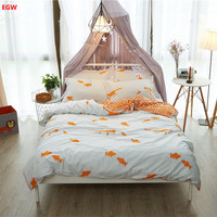 Home Textile Nordic Bedding Set Fish 100 Cotton King Queen Twin Size Duvet Cover Bed Sheet