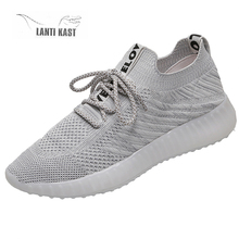Women Sport Sneakers 2019 Fashion Summer Mesh for Comfortable Breathable Running Shoes Flats Female