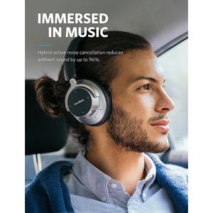 Image 2 - Anker Soundcore Space NC Wireless Noise Cancelling Headphones with Touch Control, 20 Hour Playtime, Foldable Design
