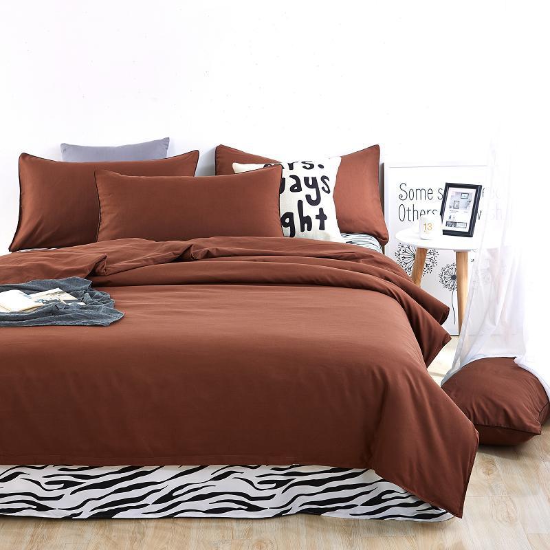 Novos conjuntos de cama cor simples lago