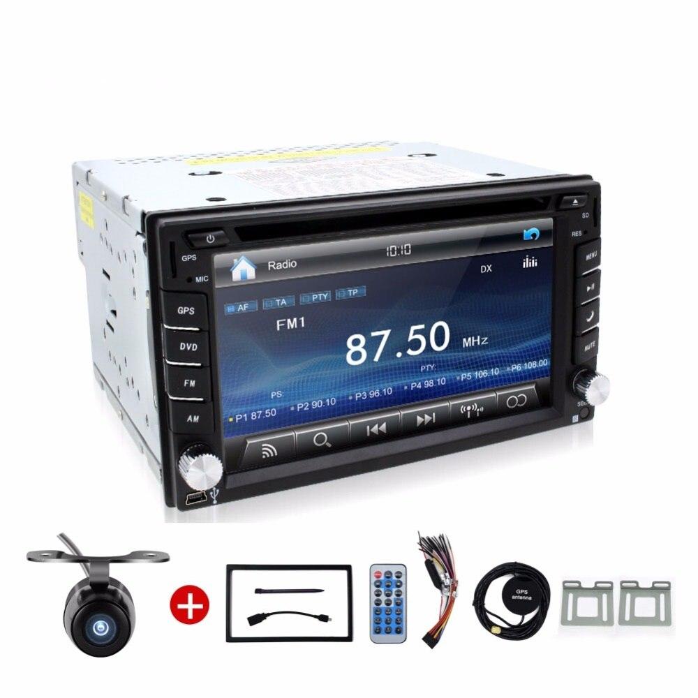 2 din radio car Touch Screen car dvd player gps Navi Bluetooth FM 6.2 2din in dash TFT support rear view camera input