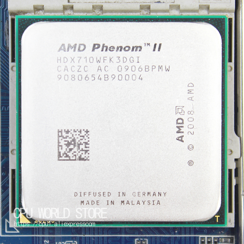 AMD Phenom II X3 710 Triple-Core CPU Processor 2.6Ghz/ 6M /95W / 2000GHz Socket am3 am2+ 938 pin