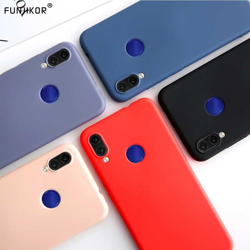 Colorful Liquid Silicone Case for Huawei P Smart Plus 2018 2019 Soft TPU Full Back Cover For Huawei Y6 Y5 Y9 2019 Phone Funda
