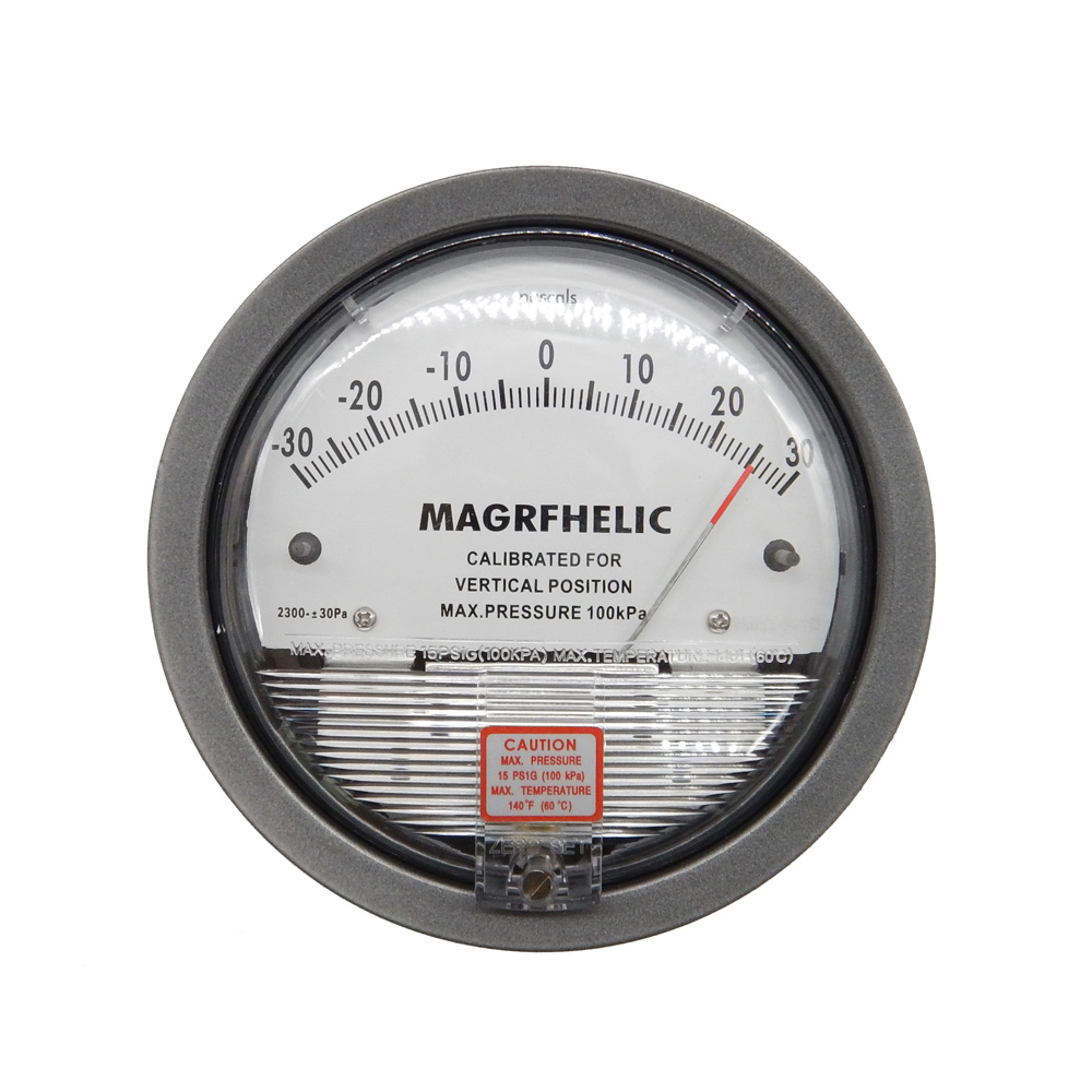 5000pa High pressure professional clean room differential pressure gauge Manometer for gas r134a single refrigeration pressure gauge code 1503 including high and low