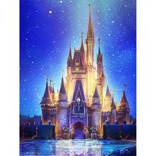 5D DIY full Square drill Diamond painting Cross stitch Cartoon Castle embroidery Mosaic decor