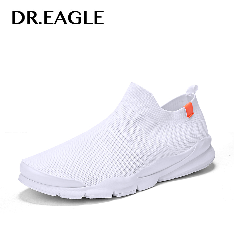 DR.EAGLE Brand Men running shoes sneaker socks Breathable Mesh Krasovki sneakers man outdoor for women sports Slip on Sock