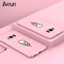 Купить с кэшбэком Cartoon Cute PC Phone Case For Samsung Galaxy A6 A8 Plus A7 A9 2018 A3 A5 J3 J5 J7 2017 J2 Prime S8 S9 S10 Plus S10E Cover Coque