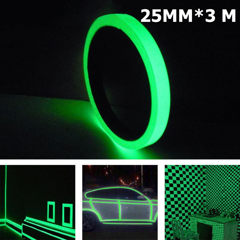 3M*25MM  Safety Mark Reflective Tape Stickers For Bicycles Frames Cycling Self Adhesive Film Warning Tape Reflective Film