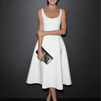 2015 Women Vintage A Line Party Dress Office Lady One Piece Evening Dress Female Vestido Ball