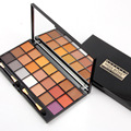 Miss rose makeup 21 colors eyeshadow palette with 2 brush earth color shimmer pigment eye shadow palette maquillage MS032
