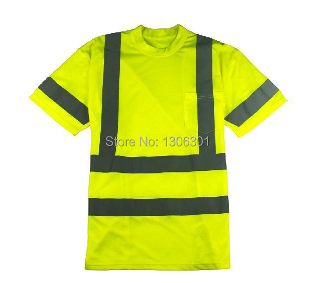 Good quality fluorescent reflective T-shirt, traffic safety warning reflective clothing, custom tailored cycling jerseys
