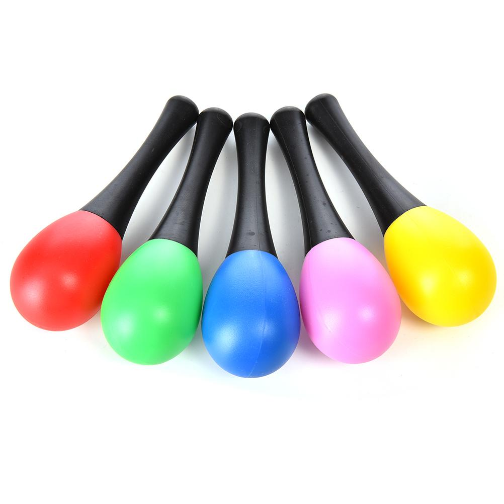 1Pc Plastic Random Color Sand Hammer Maraca Rattle Shaker Kids Musical Instruments Baby Sound Music Toy