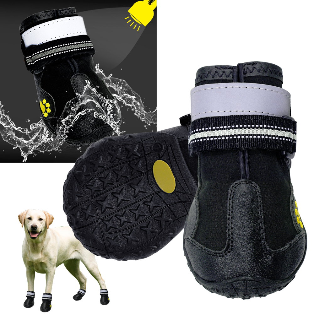 Dog Shoes Adjustable Small Large Anti-slip Mesh Boots Booties for Snow Rain