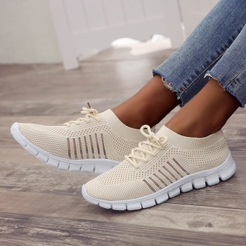 Women's breathable sneakers fashion Flying Weaving Socks Shoes Sneakers Casual Shoes Student Running Shoes sports shoes #39 1