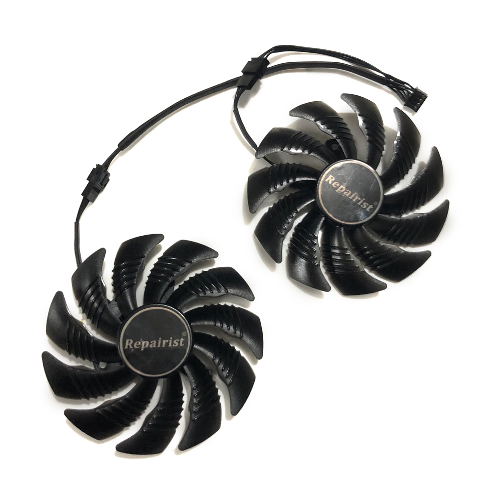 T129215SU 88mm GPU Cooler Graphics card fan for REDEON AORUS RX580/570 GIGABYTE GV-RX570AORUS GV-RX580AORUS Cards As Replacement цена