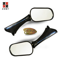 ZXMT Universal Folding Motorcycle Black Rear View Mirrors For Honda CBR 600 F2 F3 CBR1000F VFR750F/800FI CBR900RR