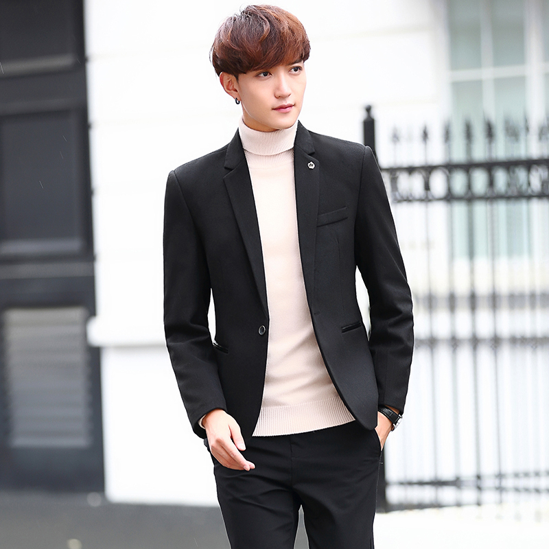 2017 new Autumn And Winter Leisure Time Woolen Mans Suit Male Jacket Youth Han Banchao Business Affairs Small Suit Man Slim