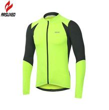Arsuxeo Autumn Cycling Running Fitness Cycling Bike Bicycle Outdoor Sports MTB Clothing Shirt Long Sleeve Jersey west biking autumn women cycling clothes quick drying outdoor long sleeve clothing spring and riding fitness sports coat jerseys