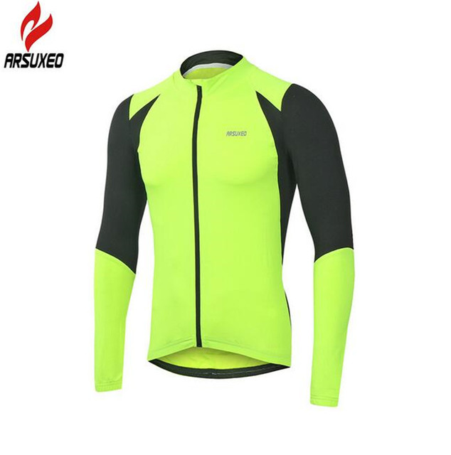 d34207e50 Arsuxeo Autumn Cycling Running Fitness Cycling Bike Bicycle Outdoor Sports  MTB Clothing Shirt Long Sleeve Jersey