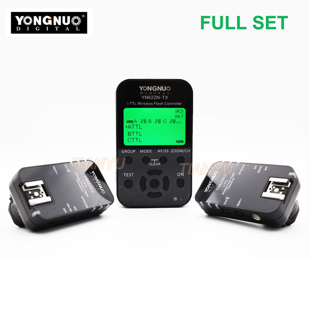 YONGNUO YN-622N II Trigger YN622N-TX LCD Controller ETTL Wireless Flash Trigger Transceiver for Nikon D800 D800E D800S D600 D610 yongnuo 1 x yn 622n tx 1 x rx yn 622n kit ttl lcd wireless flash trigger set for nk d800 d800e d800s d600 d610 d7200 d7100