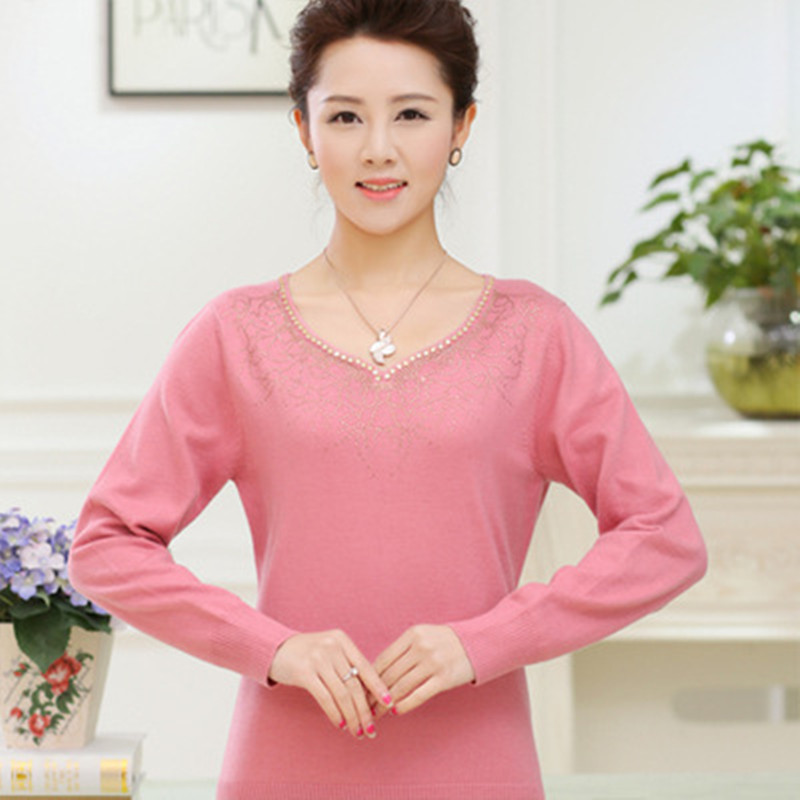 Blue Sweater Loose A254 Cashmere Size Wool Sleeve Nice Women Clothing red black Knitted Basic Thick Fashion Plus Pullovers green pink Mother Long OZTnEq