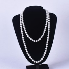 Best Long Pearl Necklace For Girls (120 cm long and 8mm) Cheap