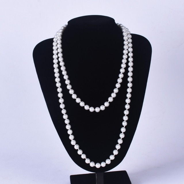 Best Long Pearl Necklace For Girls (120 cm long and 8mm) Cheap necklace for wife birthday