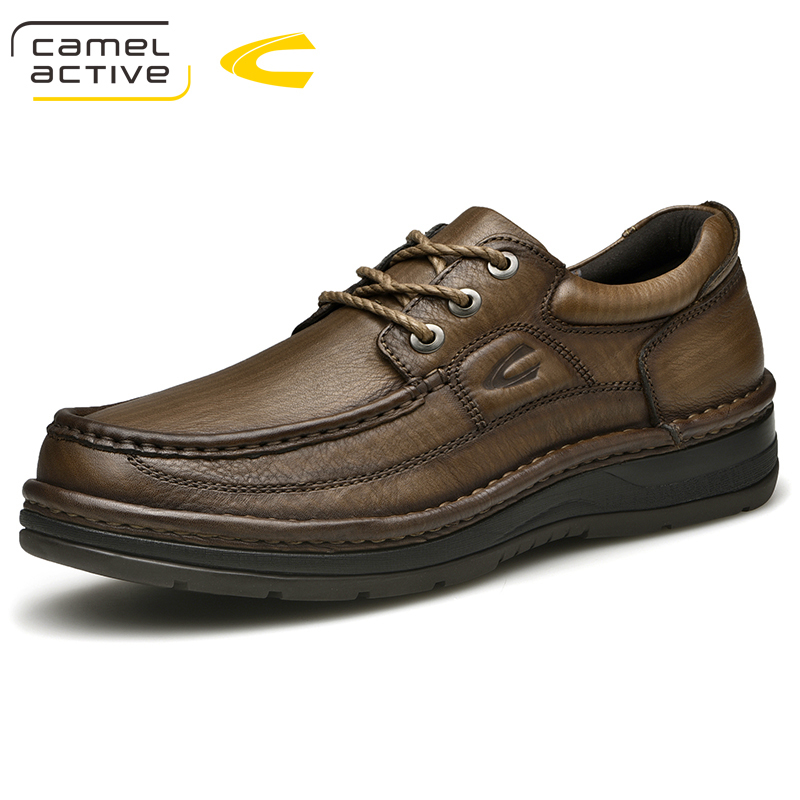цены Camel Active New Brand Cow Leather Shoes Men Spring Autumn Fashion Lace up Genuine Leather Men Casual Shoes