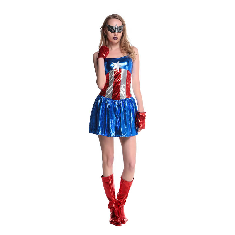 Aliexpresscom  Buy 2016 New Supergirl Adult Women Sexy Superwoman Dress Superhero Halloween Costume Hot Cosplay Costumes L15341 From Reliable -9396