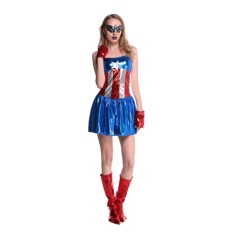Aliexpresscom  Buy 2016 New Supergirl Adult Women Sexy Superwoman Dress Superhero Halloween Costume Hot Cosplay Costumes L15341 From Reliable -9396
