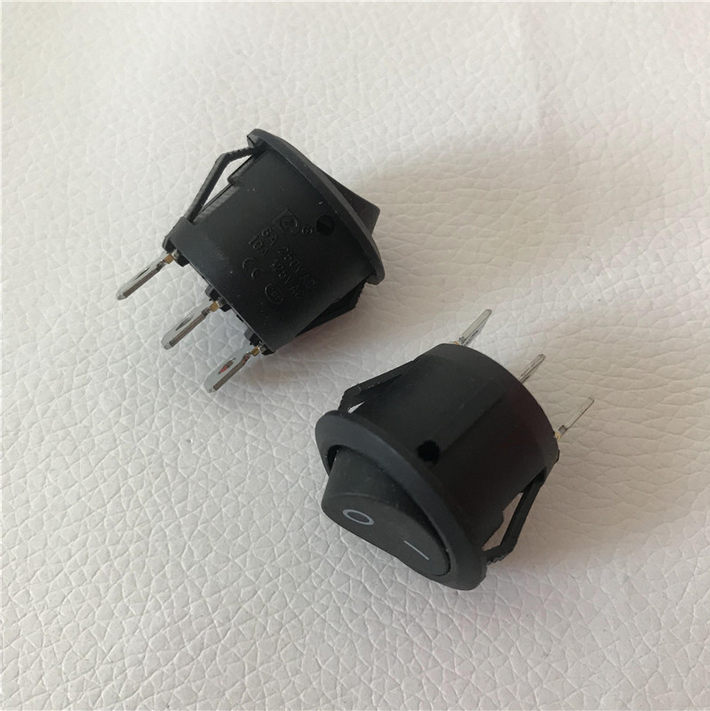 Image 2 - 100pcs/lot Round Switch Ship Type Power On Off Adapter 6A Diameter 20mm 3 Feet Black-in Computer Cables & Connectors from Computer & Office