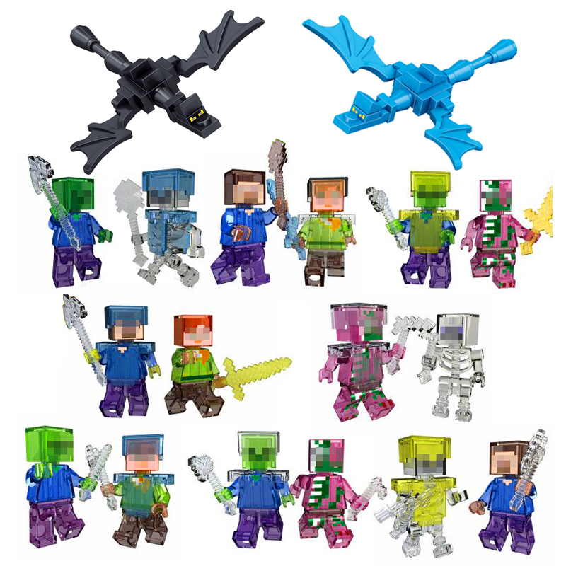 Minecrafted font b Toys b font Smartable Minecrafted Style Figures Compatible Legos Minecrafts Bricks Building Blocks