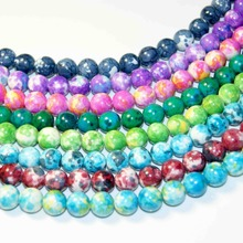 """Фотография Wholesale A Variety Of Colors Natural Stone Beads For Jewelry Making Yourself Bracelet Material 4 / 6 / 8 / 10 / 12MM 16 """"Strand"""