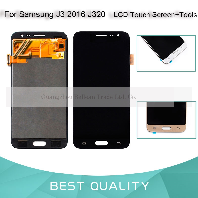 1 pcs LCD Pour SAMSUNG Galaxy J3 2016 J320 LCD Affichage J320F J320A Écran Tactile Pièces De Rechange Pour SAMSUNG J3 2016 affichage
