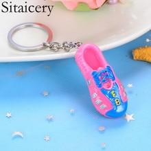 Sitaicery Cute Key Chain Charm Shoes Keyrings Gifts For Women Bag Car Pendant Key Rings Jewelry Accessorise Trinket Christmas цена