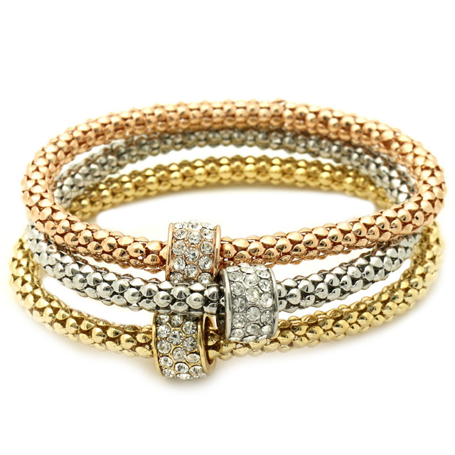 GUST Brand Jewelry Simple Bead Crystal Vintage Elastic Strand Bracelets Bangles Women Girl Dress Party Accessories B42