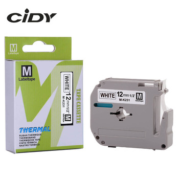 CIDY Compatible brother M-K231 MK231 MK 231 MK-231 black on white 12mm laminated strong adhesive label tapes for PT-80 PT-70 Printer Ribbons