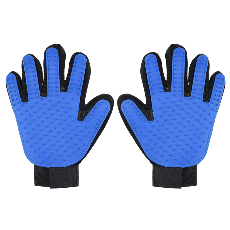 Five Fingers Pet Grooming Gloves for Cleaning and Removal of Dogs and Cats Hair Made of Rubber Useful for Animal Bathing 5