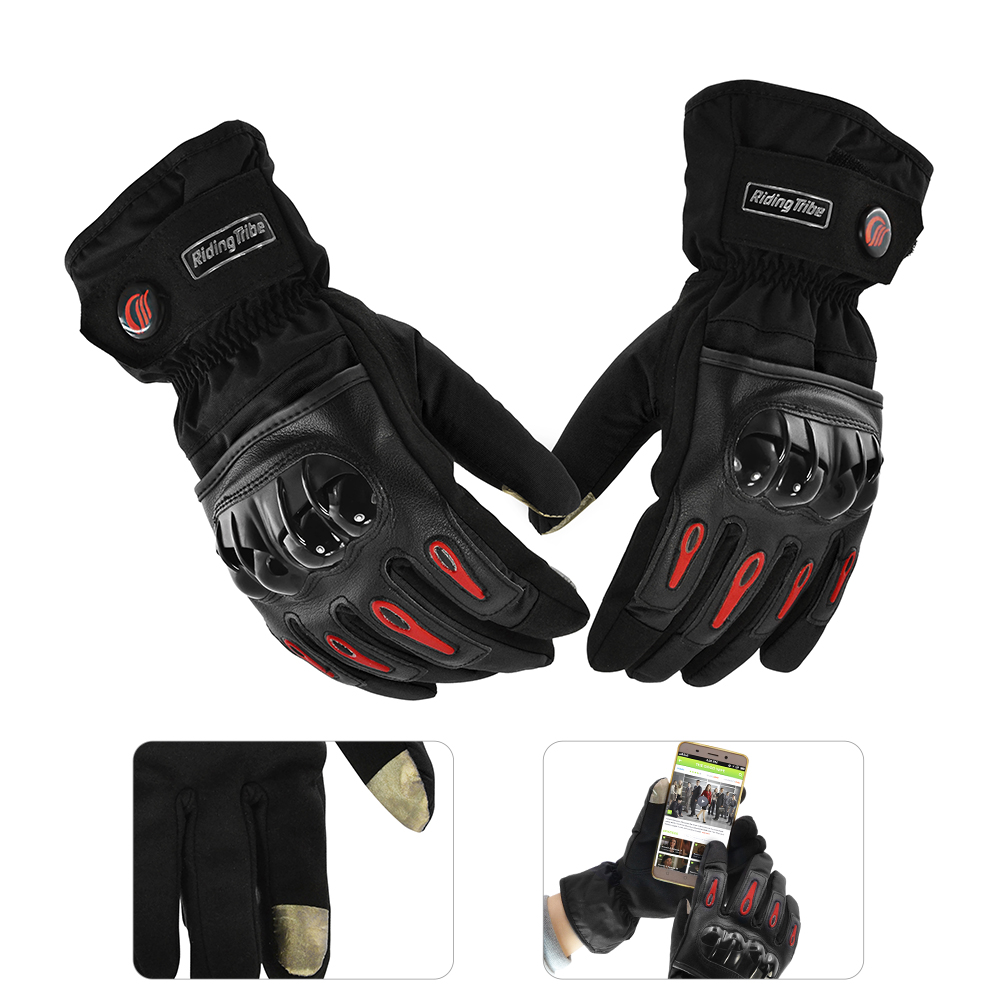 Pantalla táctil Guantes de motocicleta Carreras de cuero Dedo - Accesorios y repuestos para motocicletas