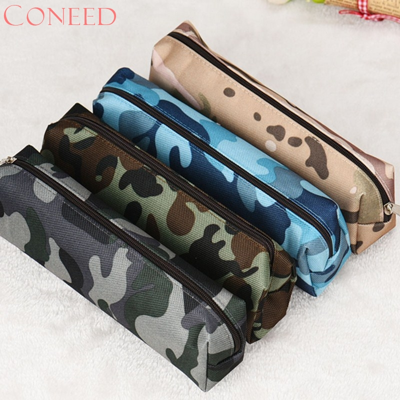 Ladies Make Up Bags CONEED 4 Colors Camouflage Pen Bag Pencil Case Pouch Stationery Cosmetic Makeup Bag Jn29 тушь make up factory make up factory ma120lwhdr04