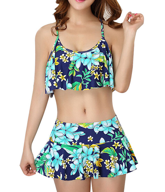 0f31d5c43d641 low waisted bathing suits beachwear bottoms lovely swimwear bikini top  skirted bottom Skirtini two piece swimsuit T315