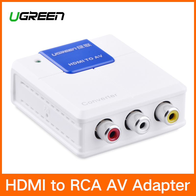 Ugreen HDMI zu RCA AV Konverter 1080 p HDMI zu AV Video Adapter HDMI Stecker Für Android TV Smart Box laptop Chrome PC PS3