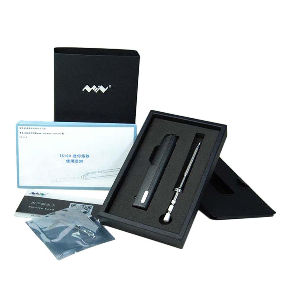 Qualität Stilvolle 1 satz Mini Tragbare 65 watt Programmierbare TS100 Elektrische Lötkolben Digitale LCD Einfach-demontieren design raum speichern