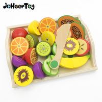 JaheerToy Baby Toy for Children Kitchen Toys Set Montessori Educational Parent-child Interaction cut Vegetables and Fruits