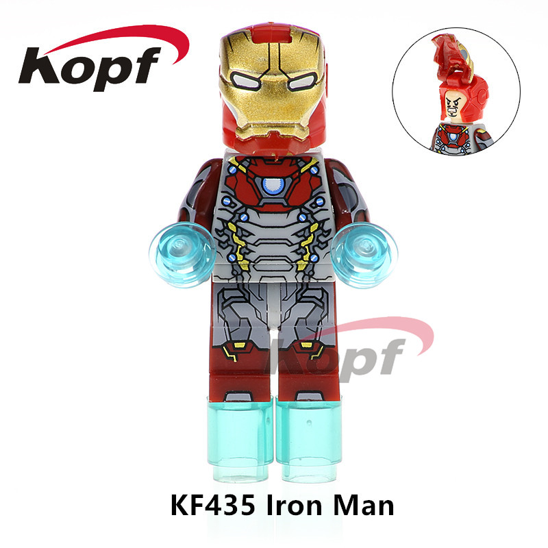 Single Sale Super Heroes Iron Man Captain America Ironman Spiderman Thanos Dolls Bricks Building Blocks Children Gift Toys KF435 sy687 super heroes captain america iron man thor hulk spiderman superman set building blocks bricks action children gift toys