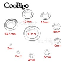 50sets Metal Silver Eyelets with Grommet for Leathercraft DIY Scrapbooking Shoe Belt Cap Bag Tag Clothes Backpack Accessories